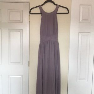 Lavender maxi dress with cross straps!
